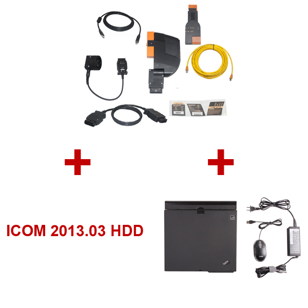 Best Quality BMW ICOM With 2013.03 Latest BMW ICOM HDD Plus ThinkPad X61 Laptop