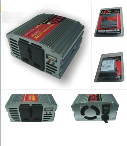 New 150W DC12V to AC 110V Power CAR USB INVERTER