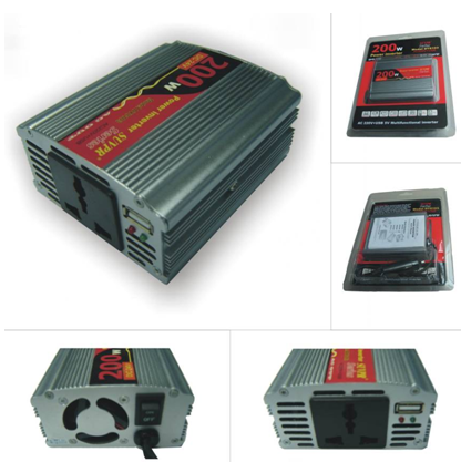 200W USB Car Inverter DC 24V to AC 220V